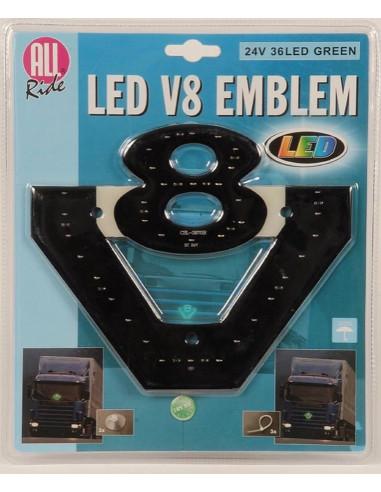 LED V8 Logo grün